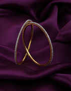 Gold Finish American Diamond Bangles For Women Fancy