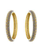 Gold Finish Fashionable American Diamond Bangles