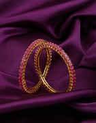 Rani Colour Gold Finish Designer Bangles For Women