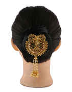 Designer Gold Finish Hair Pin Studded With Stones Hair Jewellery