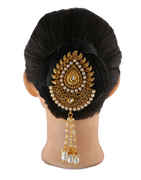 Maharashtrian Gold Finish Ambada Pin Brooch