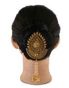 Designer Gold Finish Fancy Hair Brooch Pin
