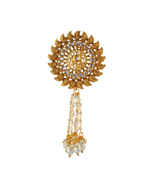 Floral Design Gold Finish Hair Jewellery Pin