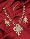 Pink Colour Designer Necklace Studded With Diamond Necklace Fancy