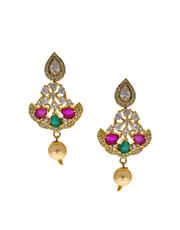 Multi Colour Diamond Long Necklace For Women Fancy