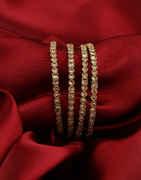 Antique Gold Finish Fancy Bangles Designer