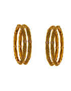 Antiqu Gold Finish Designer Bangles Set