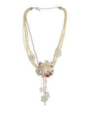 Cream Colour Floral Design Party Wear Necklace