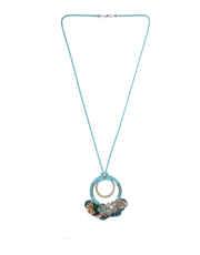 Grey Colour Floral Design Fancy Necklace