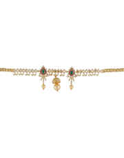 Gold Finish Bajuband Studded With American Diamond Fancy Armlet