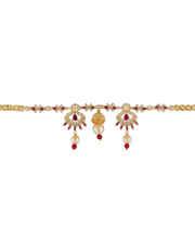 Pink Colour Gold Finish Diamond Armlet Bajuband