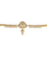 Fashionable Gold Finish American Diamond Armlet Jewelley