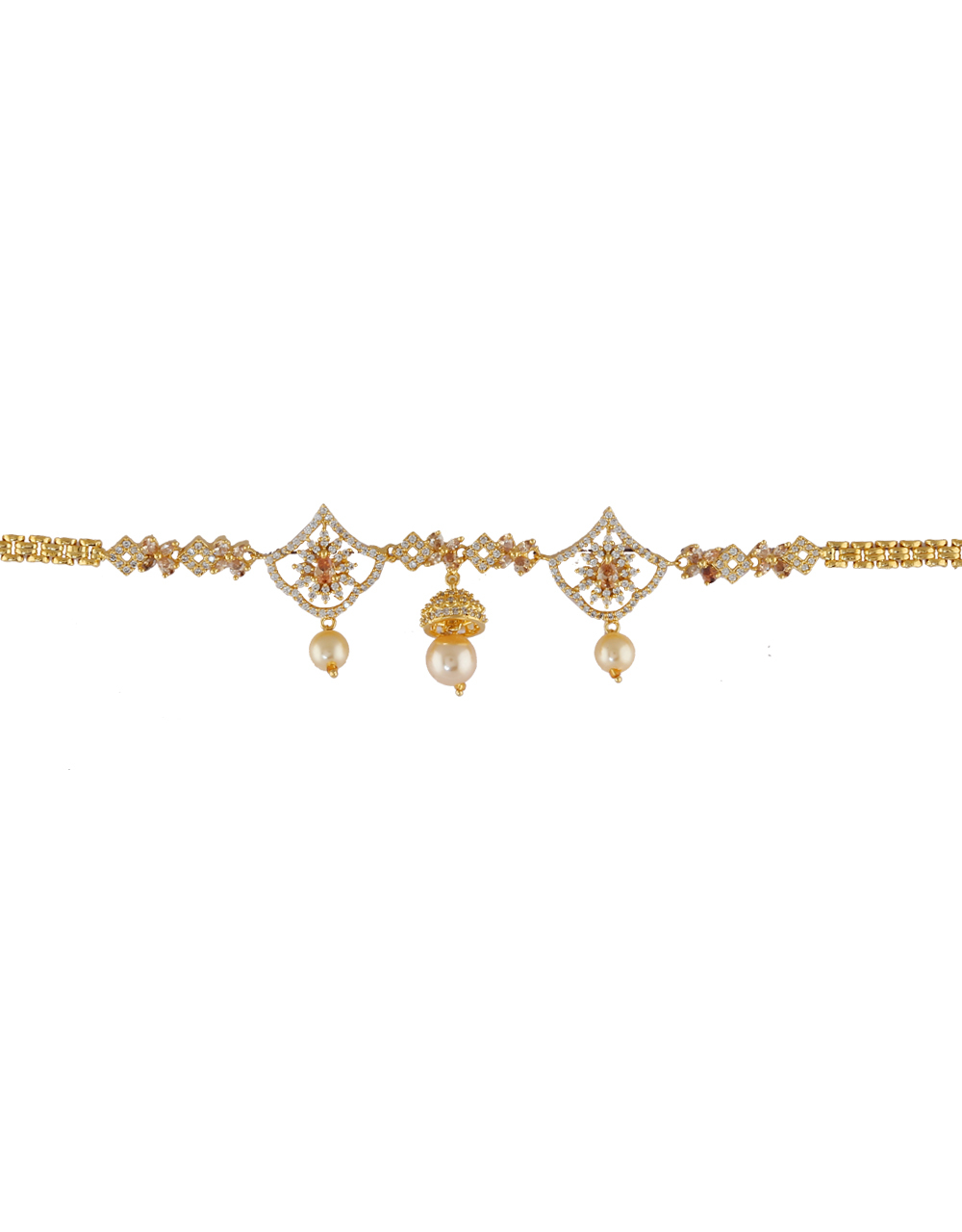 Adorable Gold Finish Party Wear Diamond Bajuband