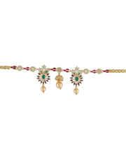 Multi Colour Gold Finish Diamond Bajuband