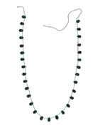Green Colour Ruby Beads Mala
