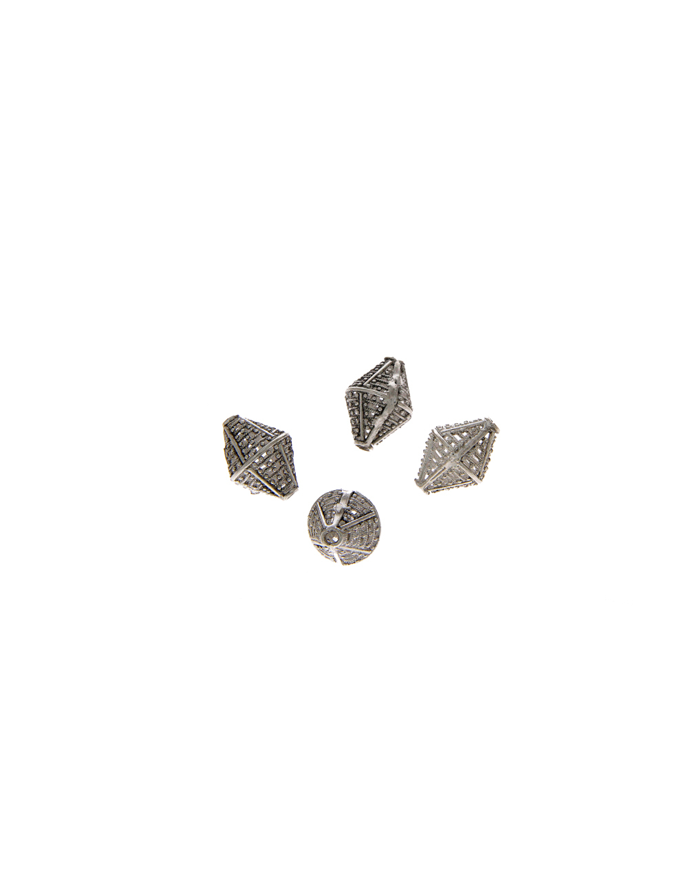 Silver Finish Fancy Material Beads