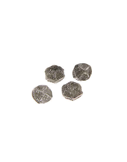 Unique Design Silver Finish Jewellery Beads