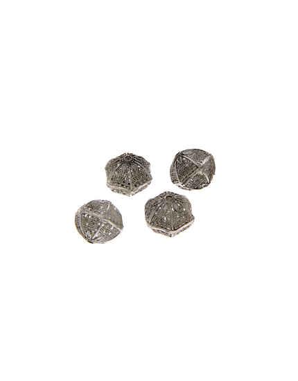 Unique Design Silver Finish Jewellery Beads