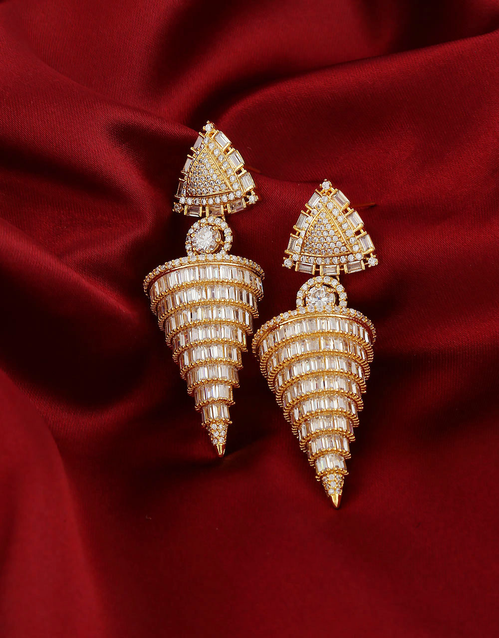 Unique Design Zumkas Studded With Diamond Earring For Women