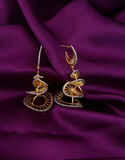 Trendy Earring Styled With Silver Dazzled For Women