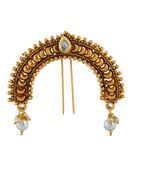 Gold Finish Designer Ambada Pin For Hair Accessories