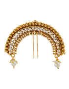 Designer Gold Finish Fancy Hair Accessories