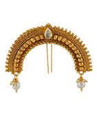 Very Classy Designer Gold Finish Ambada Hair Accessories