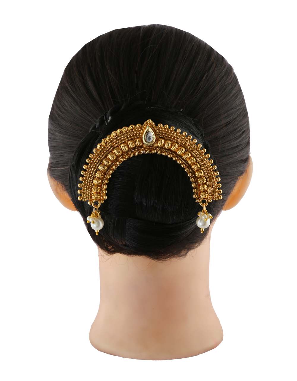 Very Classy Designer Gold Finish Ambada Hair Accessories