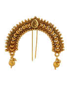 Antique Gold Finish Designer Hair Brooch Pin