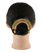 Gold Finish Moti Styled Hair Ambada Accessories