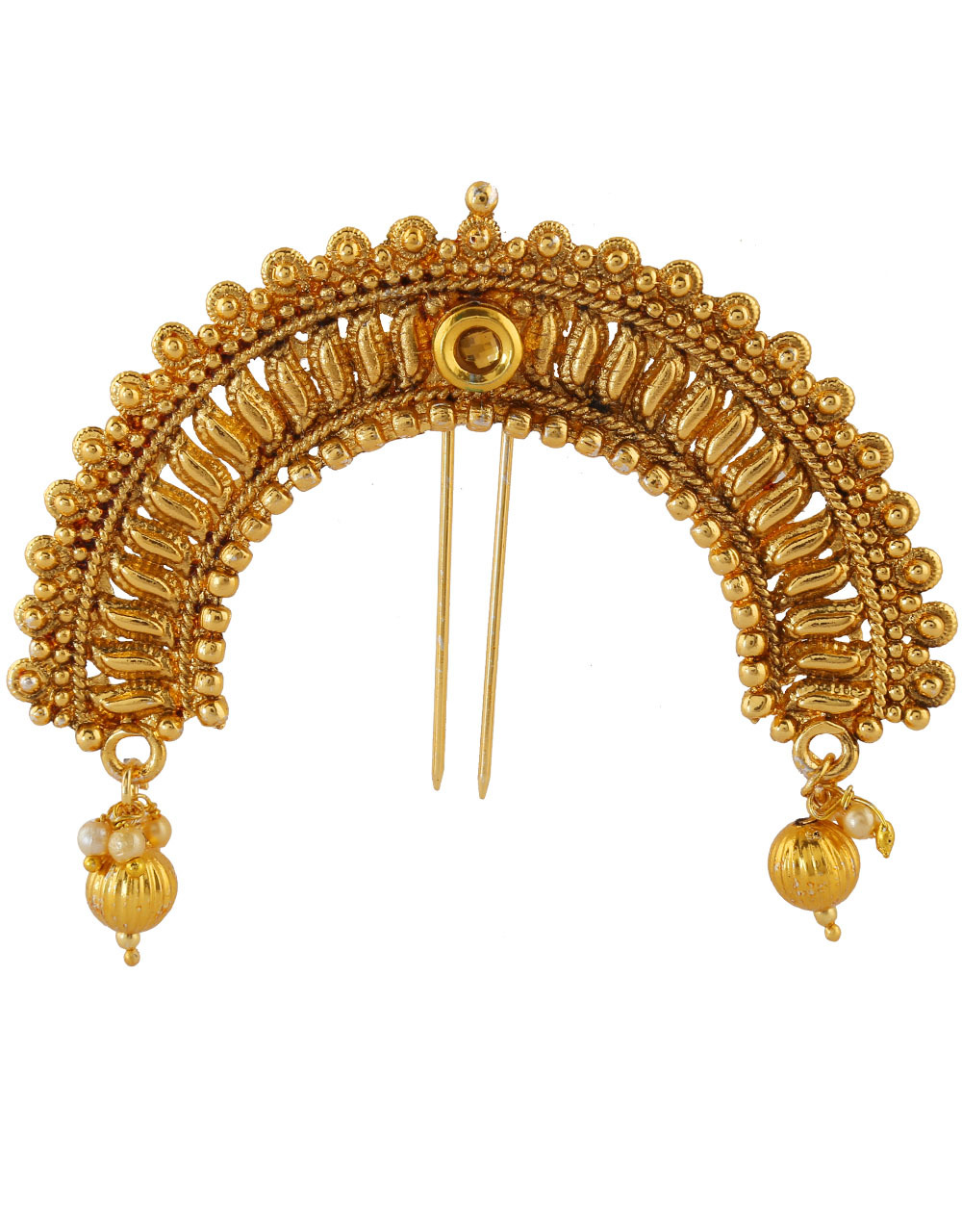 Antique Gold Finish Fancy Hair Jewellery