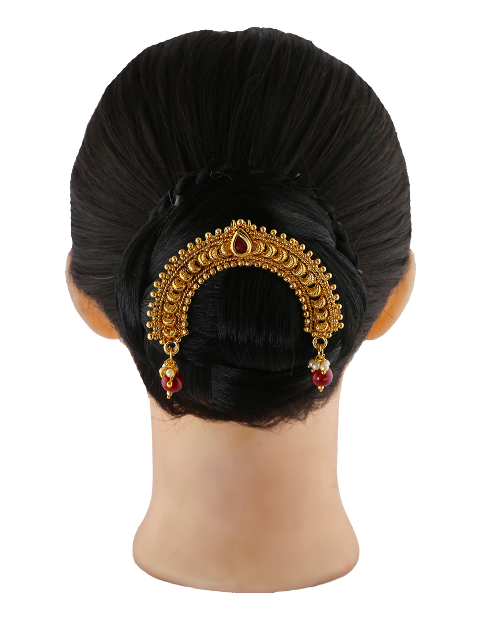 Red Colour Gold Finish Hair Ambada Accessories