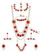 Red Colour Flower Jeweller For Bridal Wedding