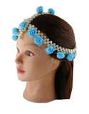 Turquiose Colour Moti Flower Jewellery For Wedding