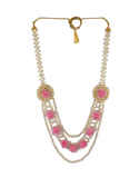 Pink Colour Designer Fancy Flower Jewellery For Mehandi