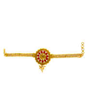 Gold Finish Traditional Bajuband For Women Fancy