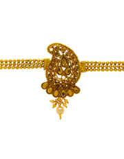 Very Classy Designer Gold Finish Fancy Bajuband