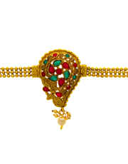 Multi Colour Gold Finish Bajuband Fancy