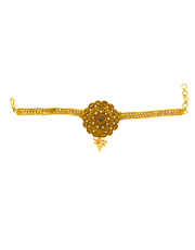 Gold Finish Floral Design Traditional Bajuband