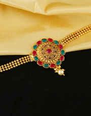 Multi Colour Gold Finish Bajuband Designer