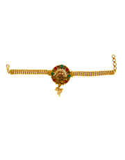 Multi Colour Gold Finish Traditional Bajuband Fancy