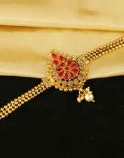 Very Classy Designer Red Colour Bajuband Fancy