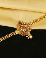 Adorable Gold Finish Fancy Bajuband