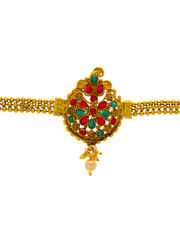 Multi Colour Gold Finish Traditional Armlet For Wedding