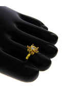 Gold Finish Silver Stone Fancy Design Toe Ring