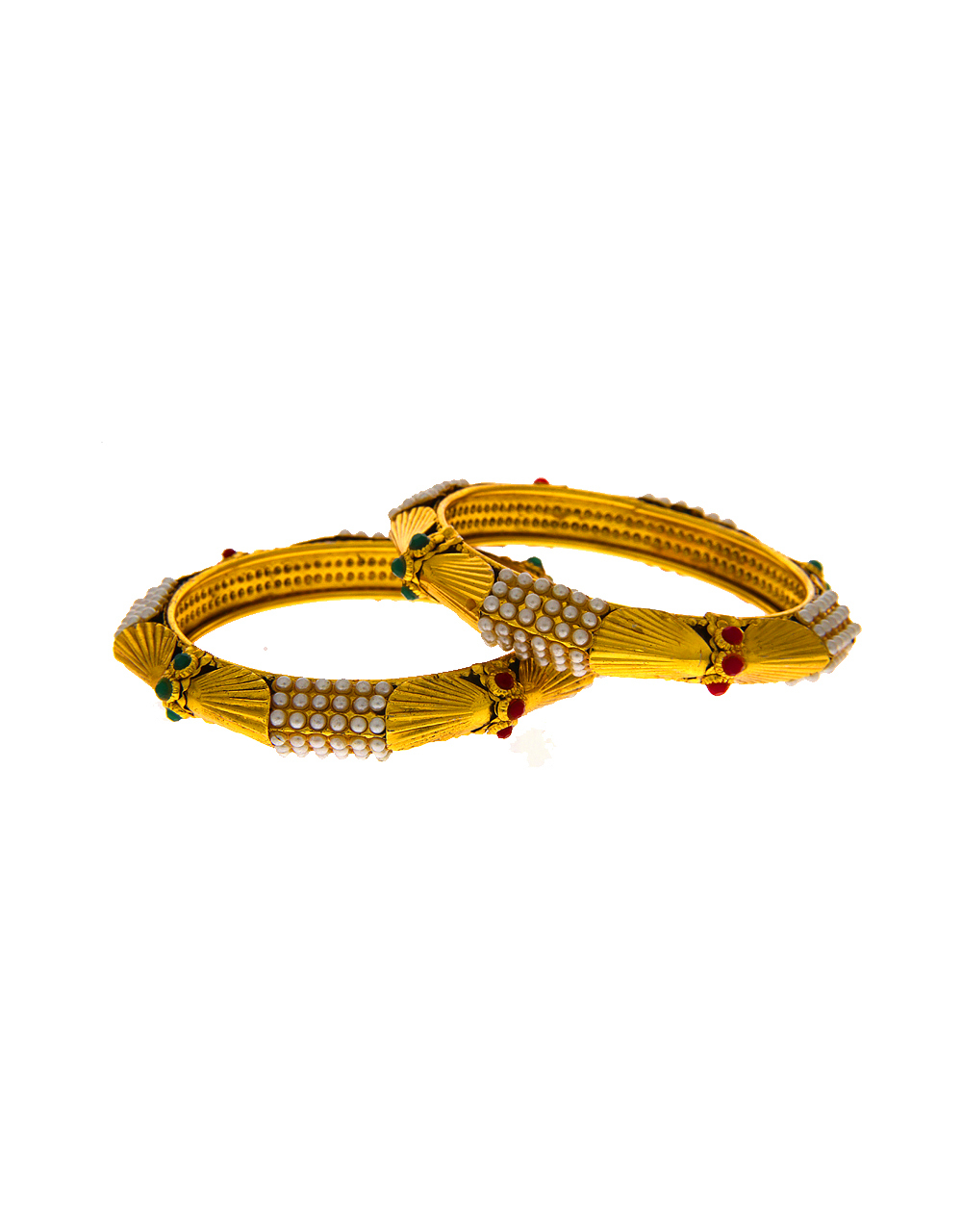 Designer Antique Gold Finish Fancy Bangles