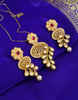 Antique Style Gold Finish Pearls Design Kundan Pendent Set