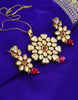 Wonderful Kundan Studded Red Colour Styled Kundan Pendent Set