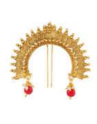 Traditional Gold Finish Hair Brooch Ambada Pin