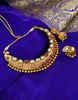 Gold Finish Kundan Styled Pendent Set